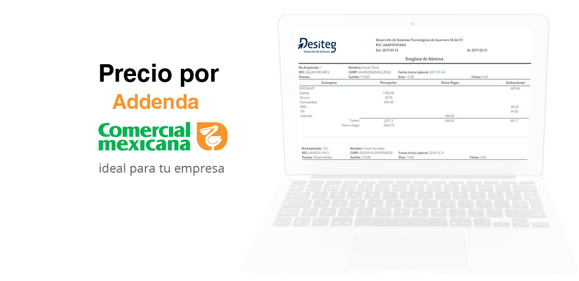 Addenda COMERCIAL MEXICANA