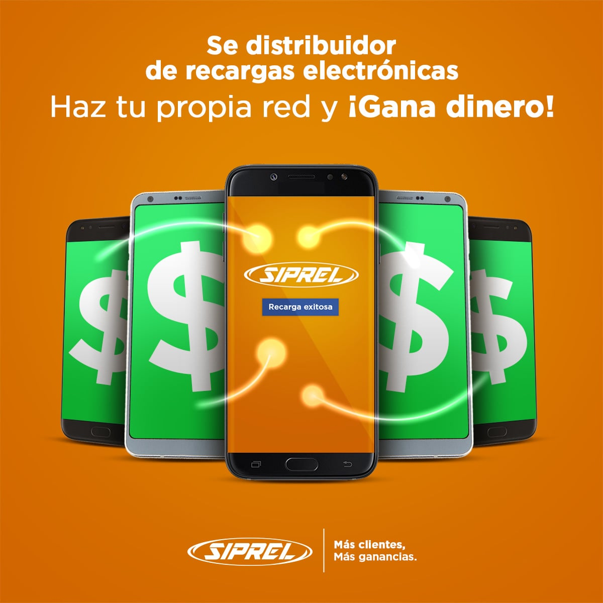 Se distribuidor de recargas electrónicas, hat tu propia red y ¡Gana dinero!