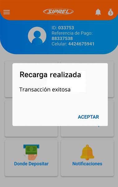 Confirma el pago del servicio
