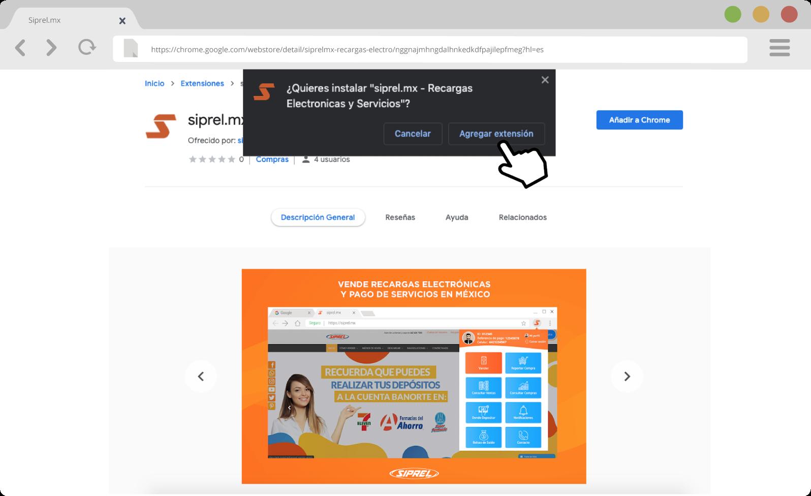 Agregar extension google chrome