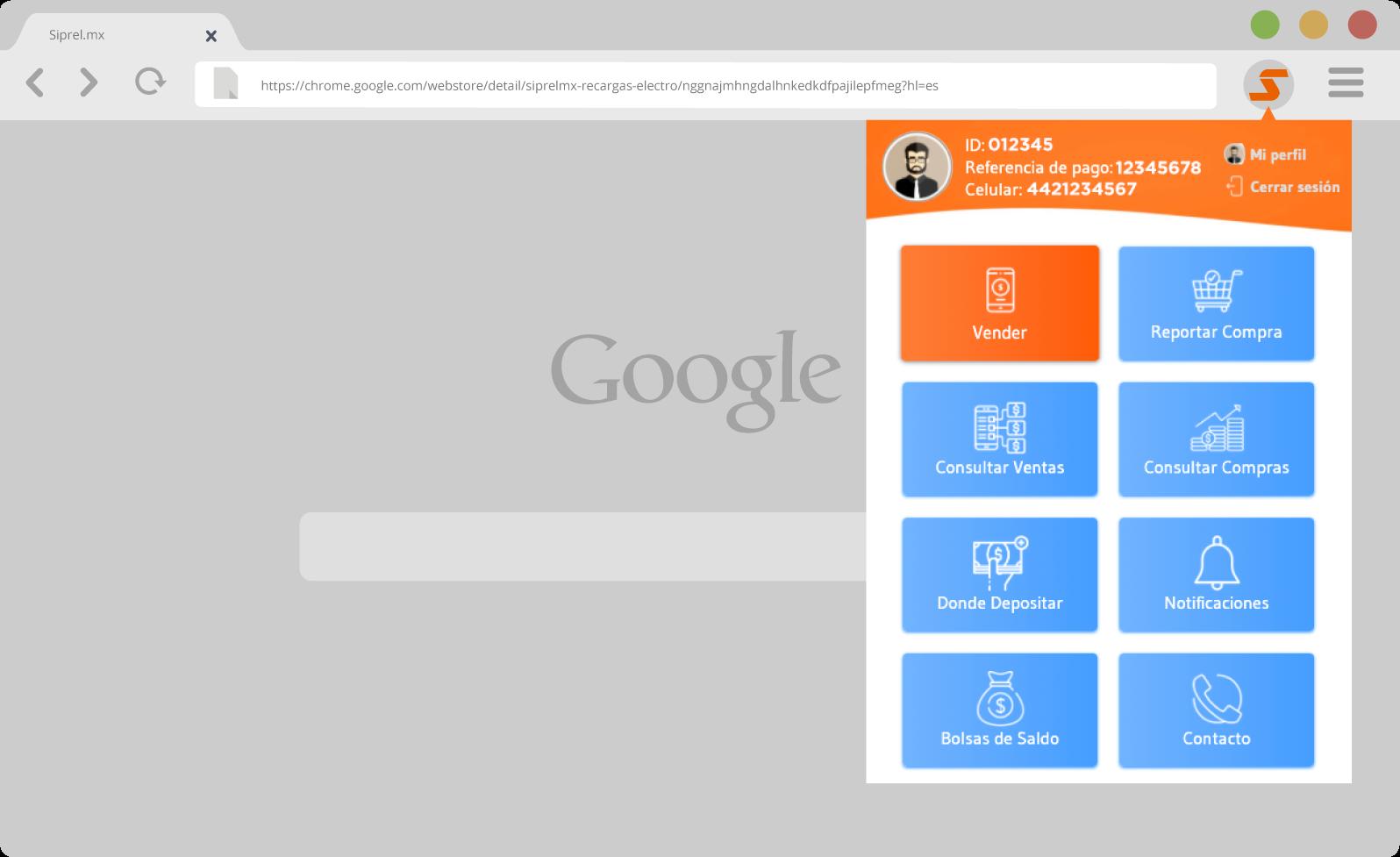 Extension para google chrome navegador