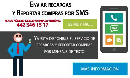 Recargas electronicas Telcel prepago con un mensaje de texto SMS