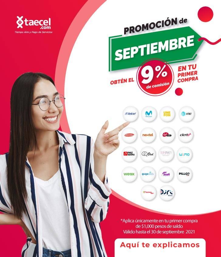 Promocion Septiembre mas comisión