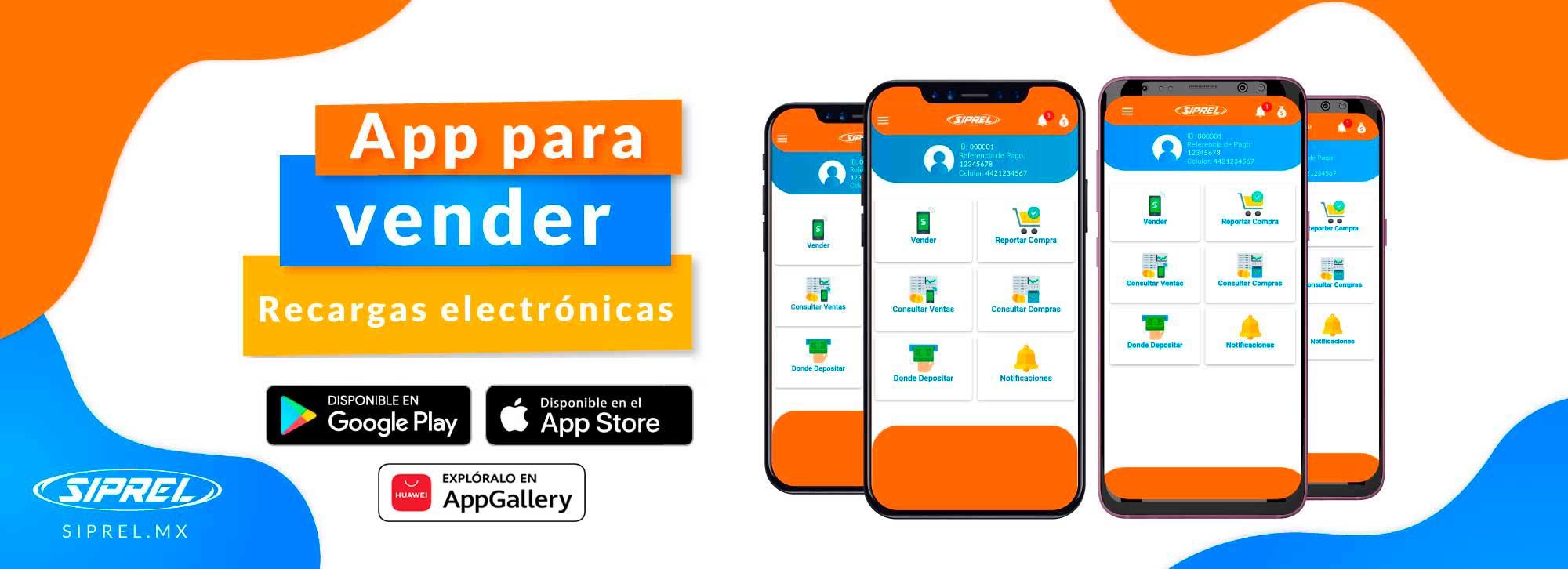 App para Recargas y Pago de Servicios. android ios