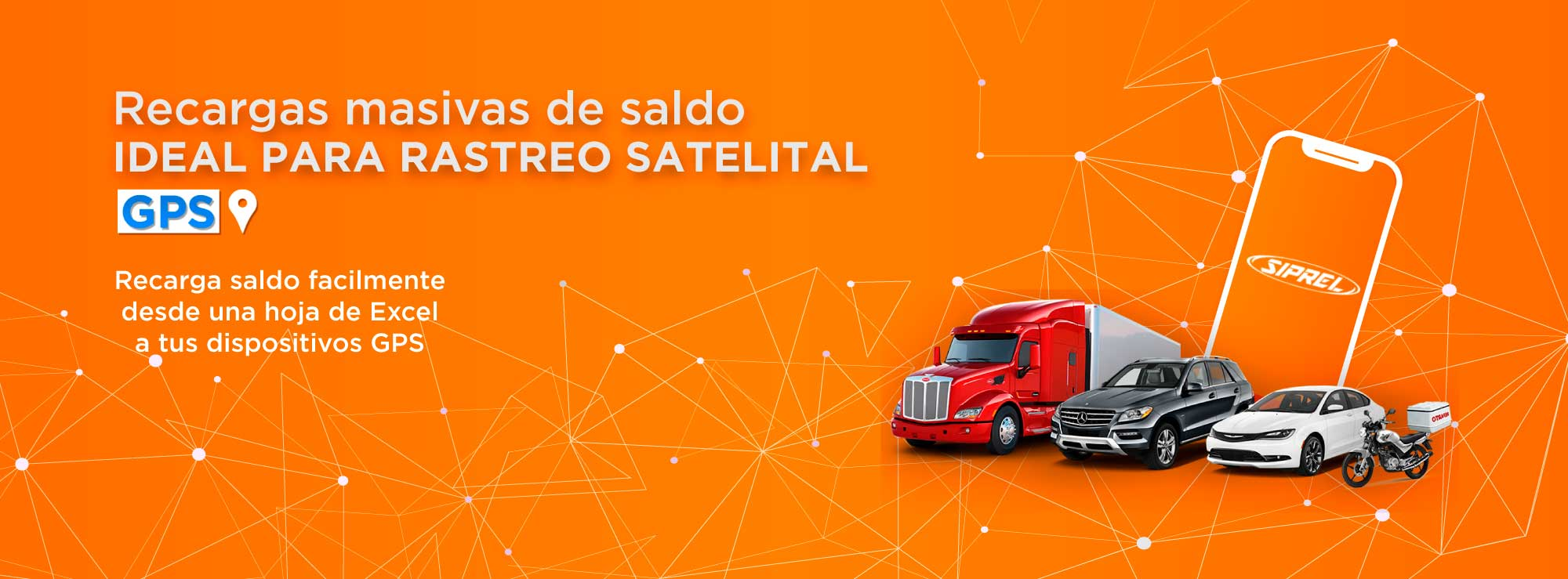 Con SIPREL Vende multirecargas de tiempo aire de todas las compañias celulares en México Recargas Telcel, Sistema de recarga masiva de saldo para celular ideal para empresas de geolocalización y rastreo GPS , para todas las compañias de telefonia celular en México, recarga chips GPS