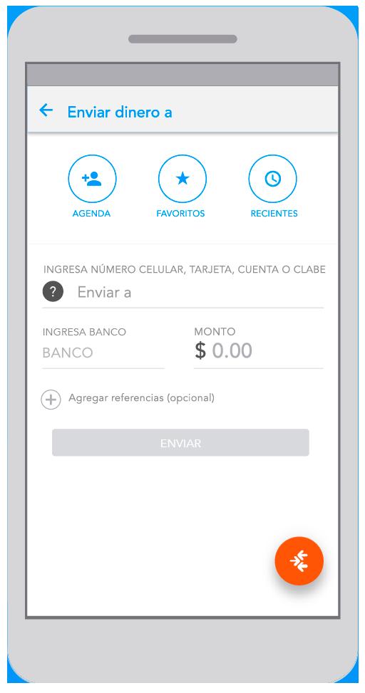Compra saldo con Transfer app