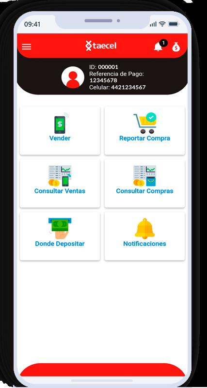 Decarga la app taecel para vender recargas electrónicas en android y iOS