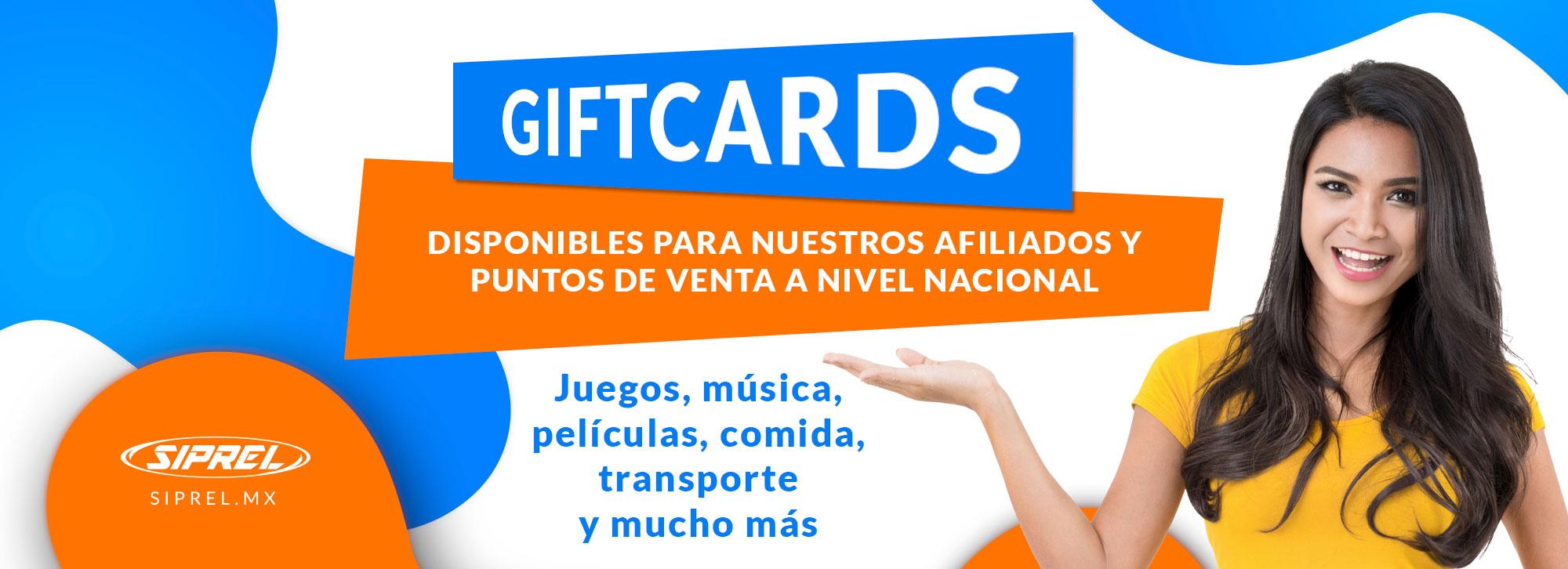 Vende tarjetas de regalo (gif cards) con la misma plataforma con la que puedes vender tiempo aire en tu negocio.