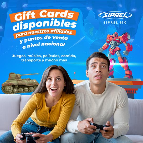 Vende tarjetas de regalo